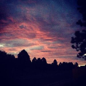 Sunrise on Friday morning. Captured while walking the mutt post-run.