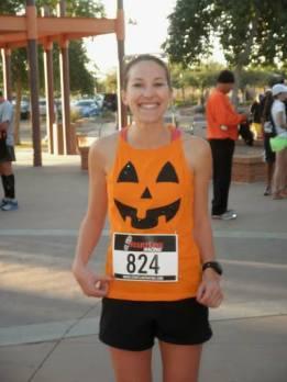 I ran as a pumpkin. Because Halloween.
