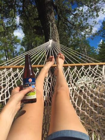 Hammock lounging