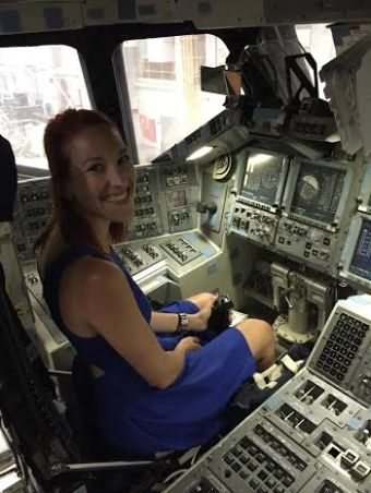 Got a behind the scenes tour and got to sit in the cockpit of the Space Shuttle! Rad.