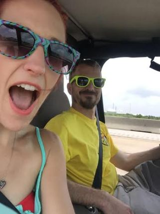 Driving down to Galveston in the YJ with no doors!