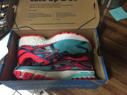 Aren't they pretty? Brooks, you know how to make a good shoe!